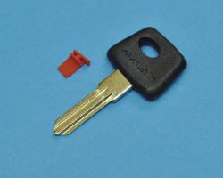 Заготовка ключа зажигания ВАЗ. С красной вставкой под чип.
